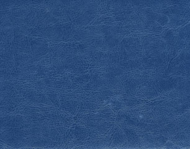 Blue color leather texture - foto stock