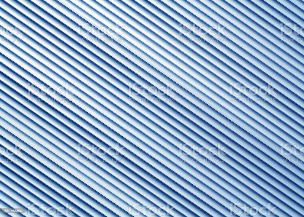 Blue color metal warehouse wall pattern. stock photo