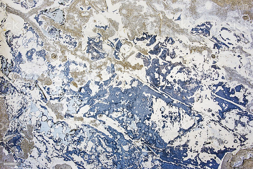 Blue colored, cracked wall texture royalty-free stock photo