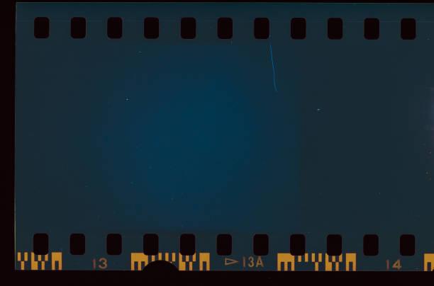 Blau gefärbtfilmleicht – Foto
