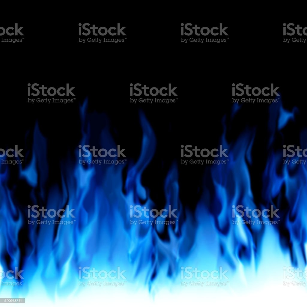 Blue colored fire. stock photo