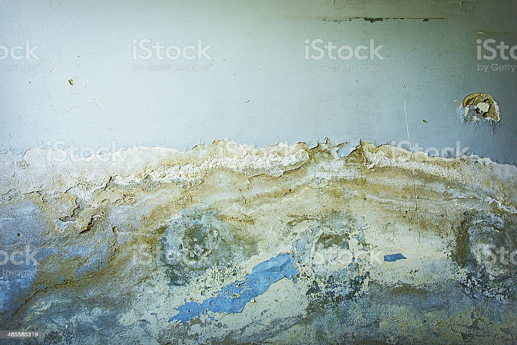 Blue colored, ruined wall texture royalty-free stock photo