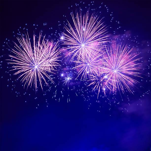 Blau bunte Feuerwerk – Foto