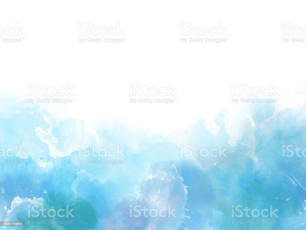 blue colors watercolor art border background ストックフォト 写真