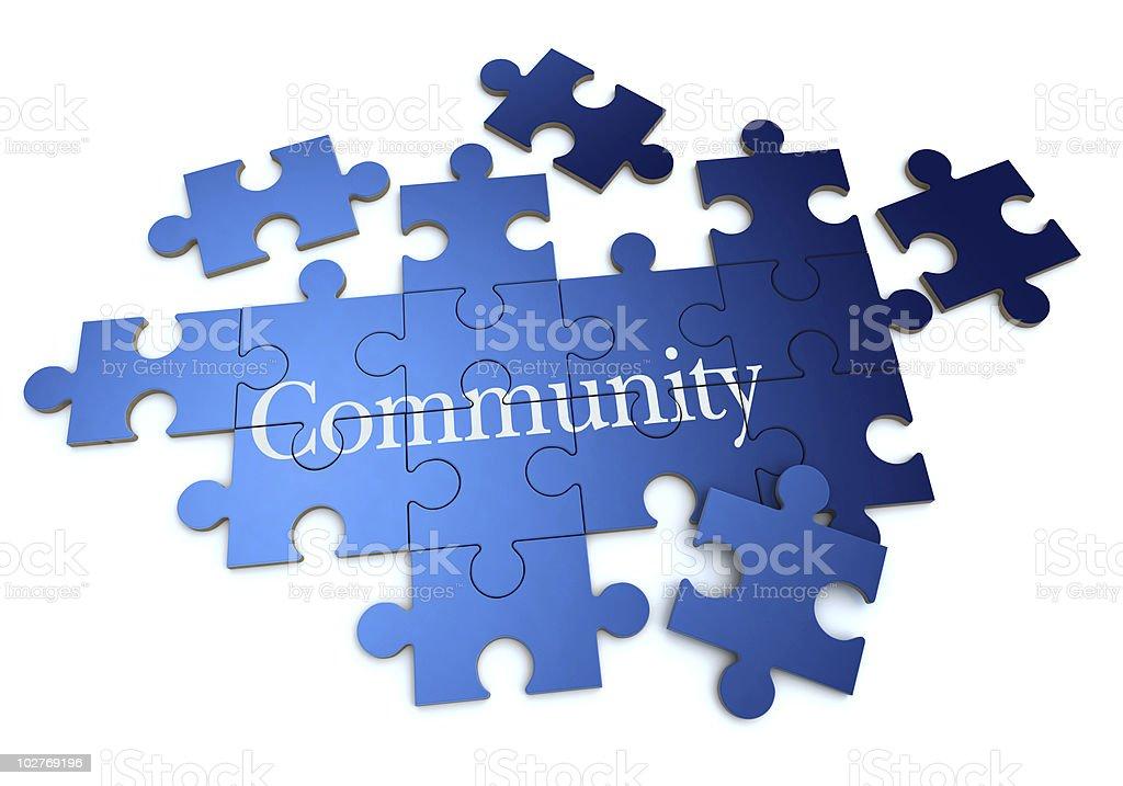 Blau-Gemeinschaft-puzzle – Foto