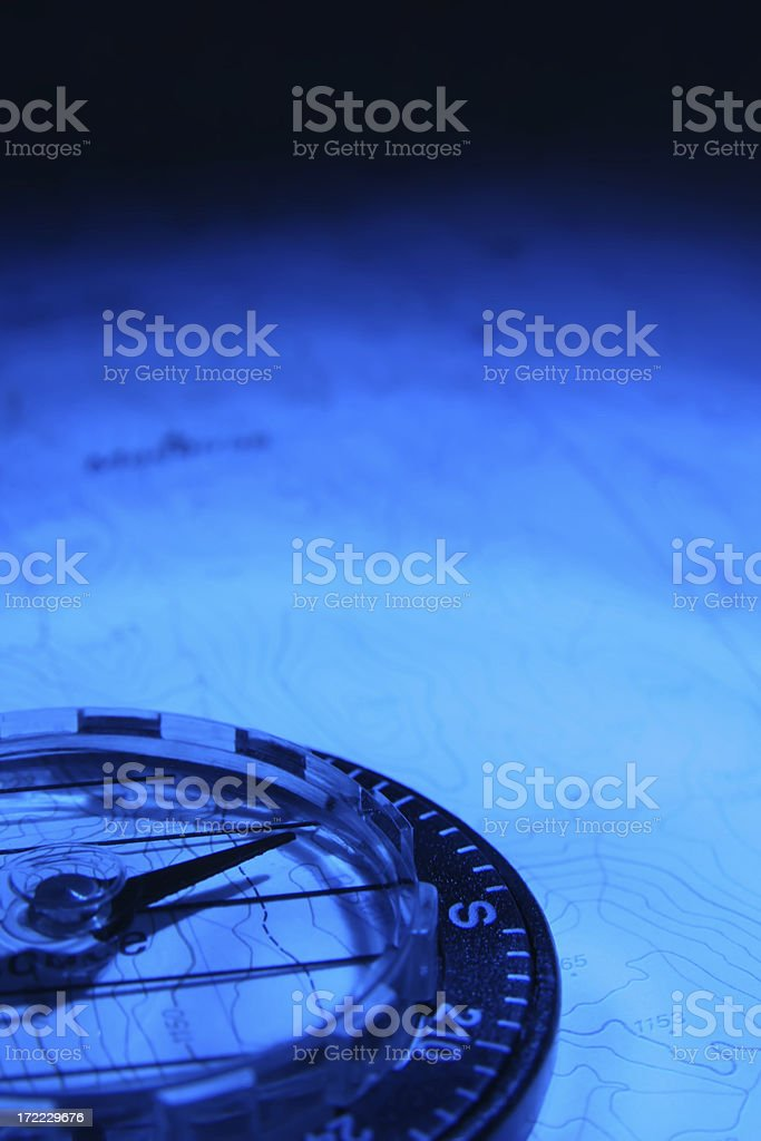 Blue Compass stock photo