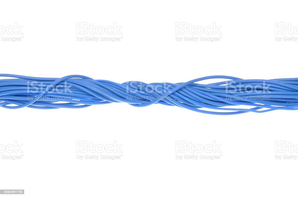 Azul cables para PC - foto de stock