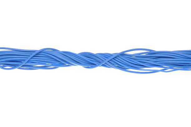 Blue ordinateur câbles - Photo