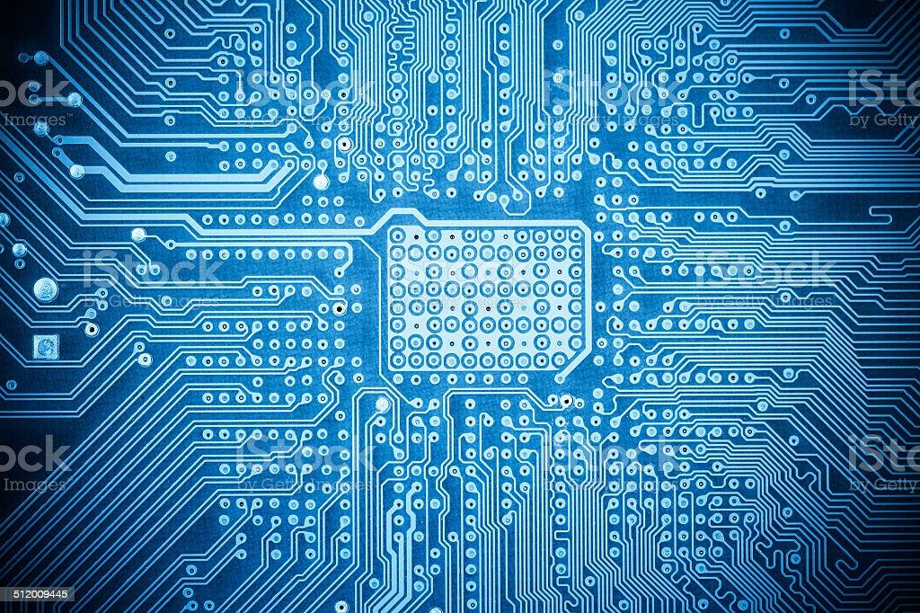 blue computer circuit board texture stock photo