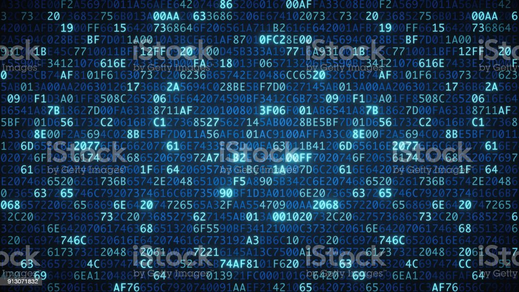 Blue computer code wallpaper simple stock photo