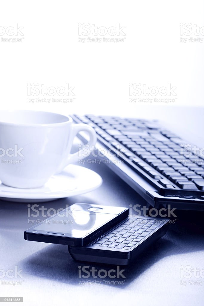 Blue computer concept royalty-free stock photo