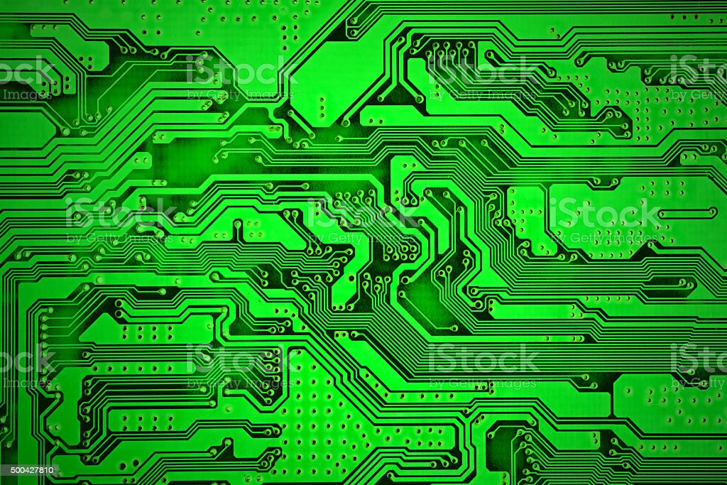 blue computer electronic circuit. Use for background or texture stock photo