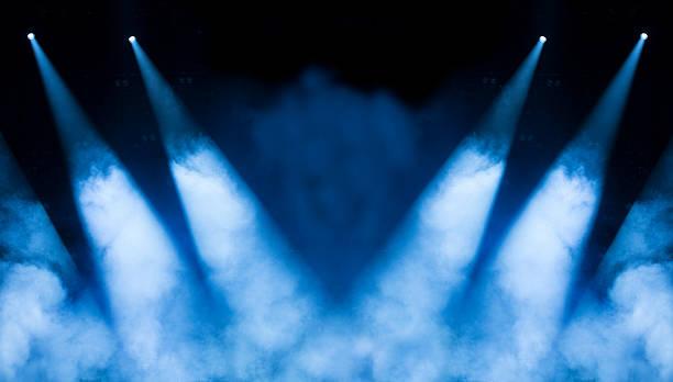 Blue Concert Lighting stock photo
