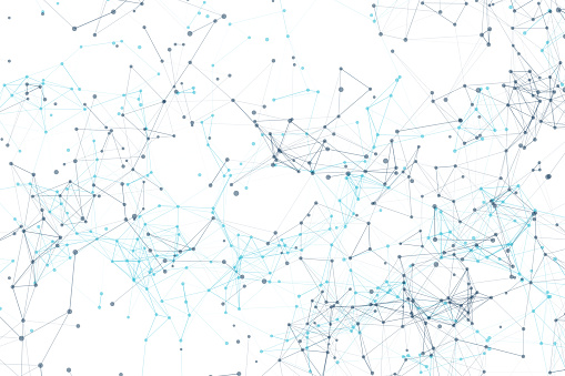 944923496 istock photo Blue connection network lines and dots on white background for technology concept, 3d illustration 969085488