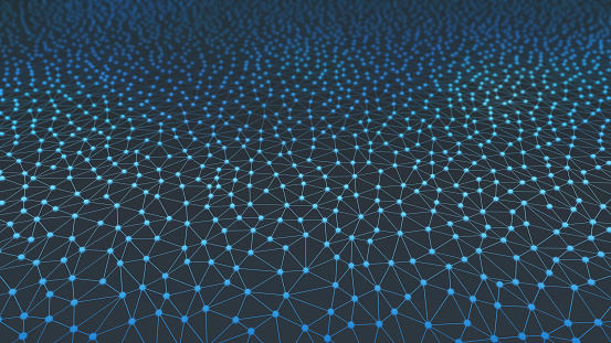 944923496 istock photo Blue connection network lines background for technology concept, 3d illustration 968425484