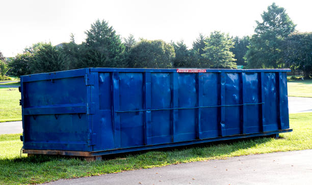 blue construction dumpster - garbage bin stock photos and pictures