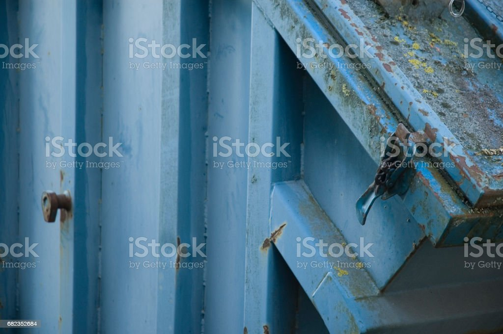 blauer Container foto stock royalty-free