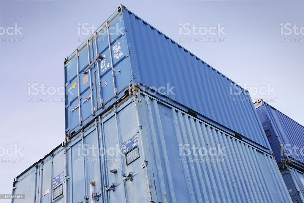 Blue Containers royalty-free stock photo