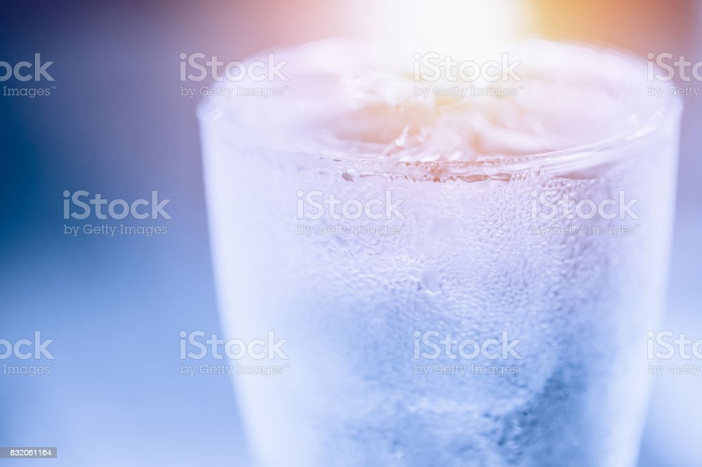 blue cool water condense to drop in summer hot summer day fresh chill...