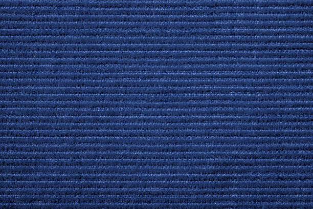 blue corduroy texture - corduroy stock pictures, royalty-free photos & images