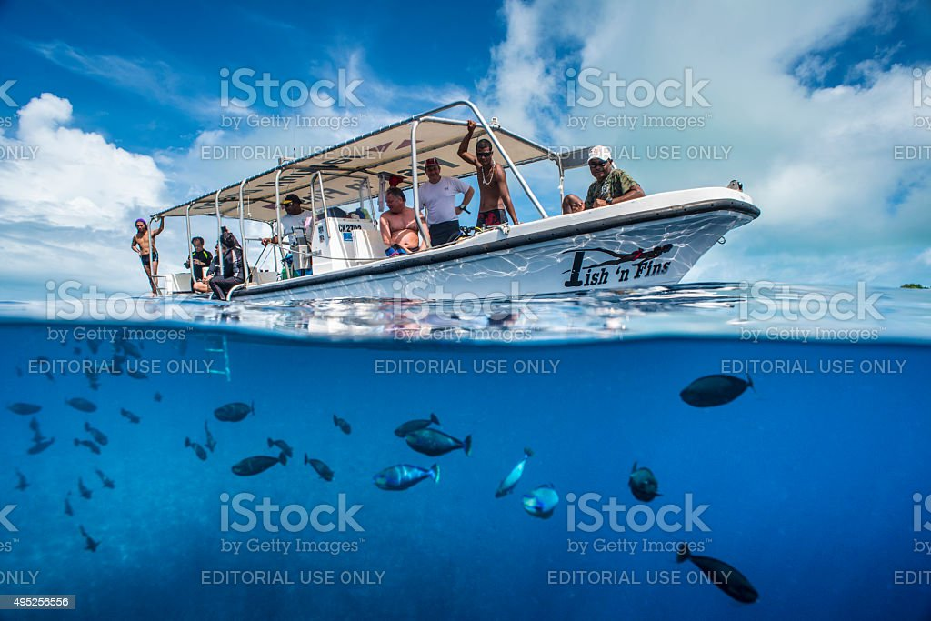 Blue Corner - Palau, Micronesia stock photo