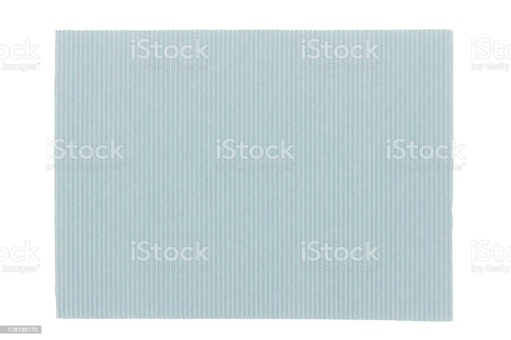 Blue corrugated cardboard texture royalty-free stock photo