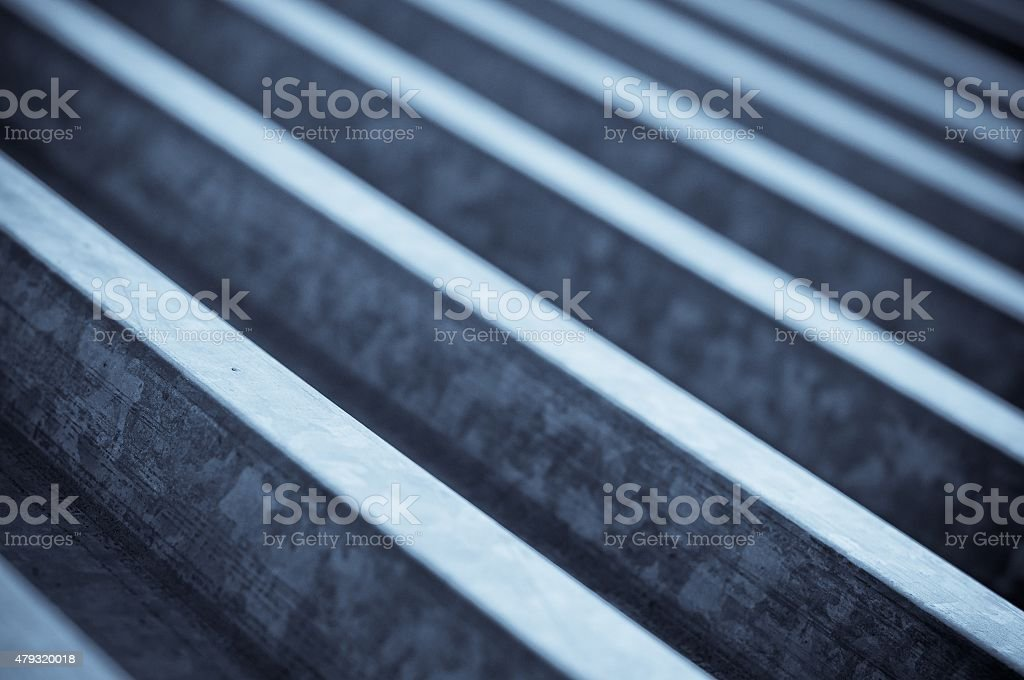 Hoja de metal fondo azul ondulado - foto de stock