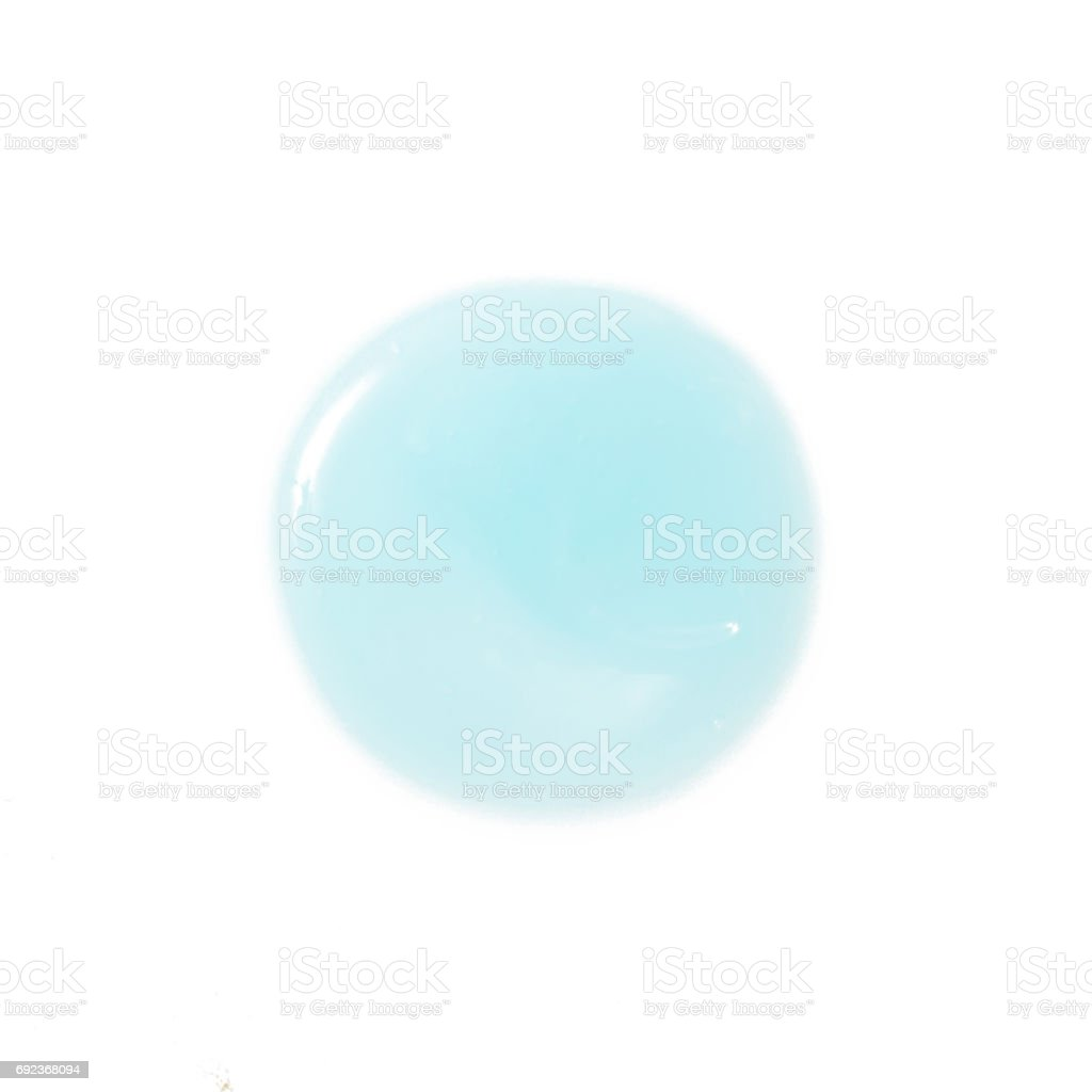Blue cosmetic gel isolated on white stock photo