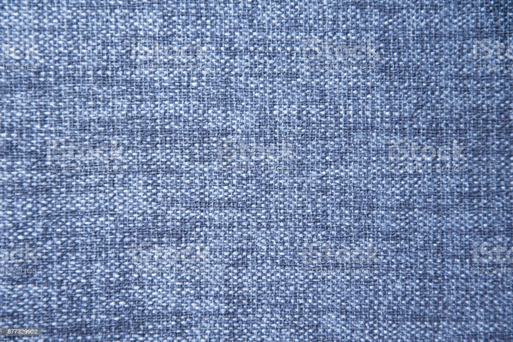 Blue cotton fabric texture background. stock photo
