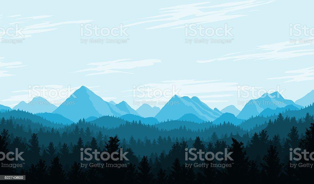 Blue Country Flat Landscape bildbanksfoto