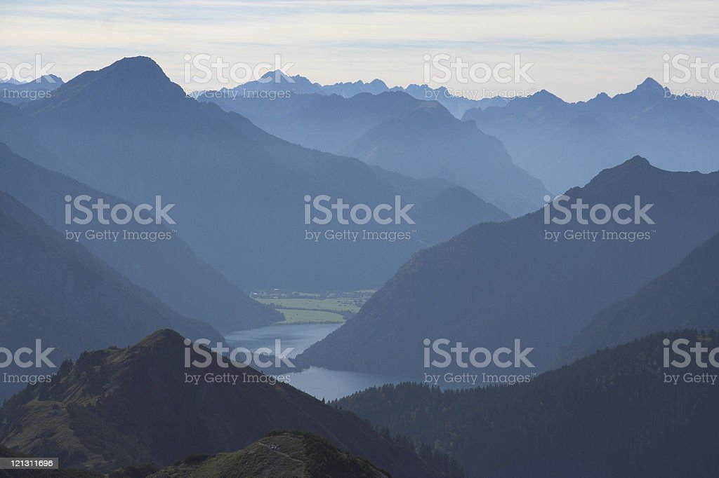 Blue country royalty-free stock photo