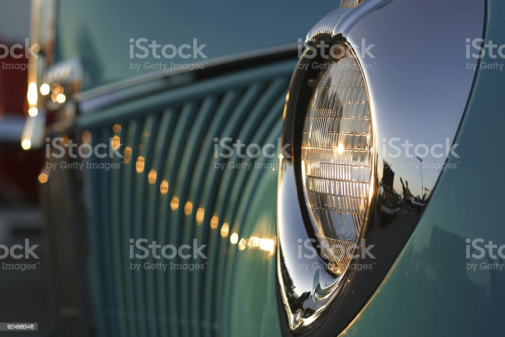 Blue Coupe Lights royalty-free stock photo