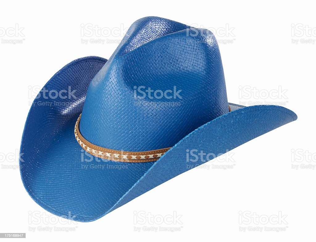 Blue Cowboy Hat royalty-free stock photo