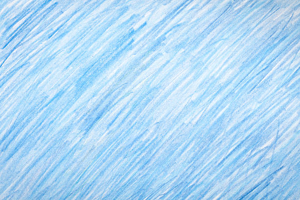 Blue crayon colored background stock photo