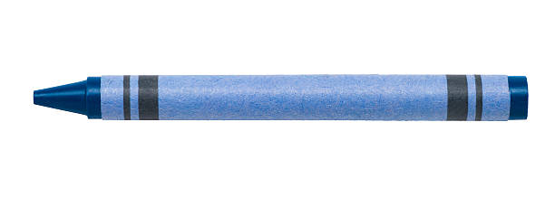 Blue Crayon Isolated on White Background Blue Crayon Isolated on White Background crayon stock pictures, royalty-free photos & images