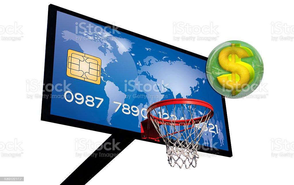Blue credit card stock photo