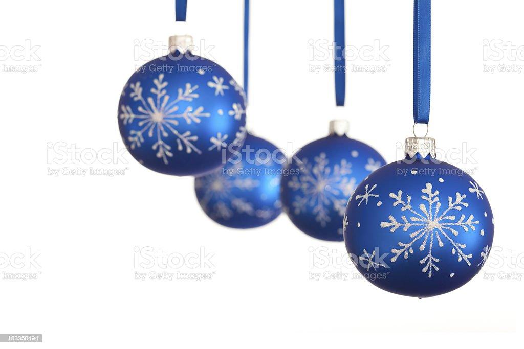 Blue Cristmas Ornament royalty-free stock photo