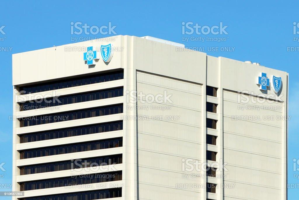 Blue Cross Blue Shield Administration building stock photo