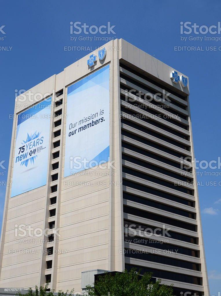 Blue Cross Blue Shield headquarters in Detroit stock photo