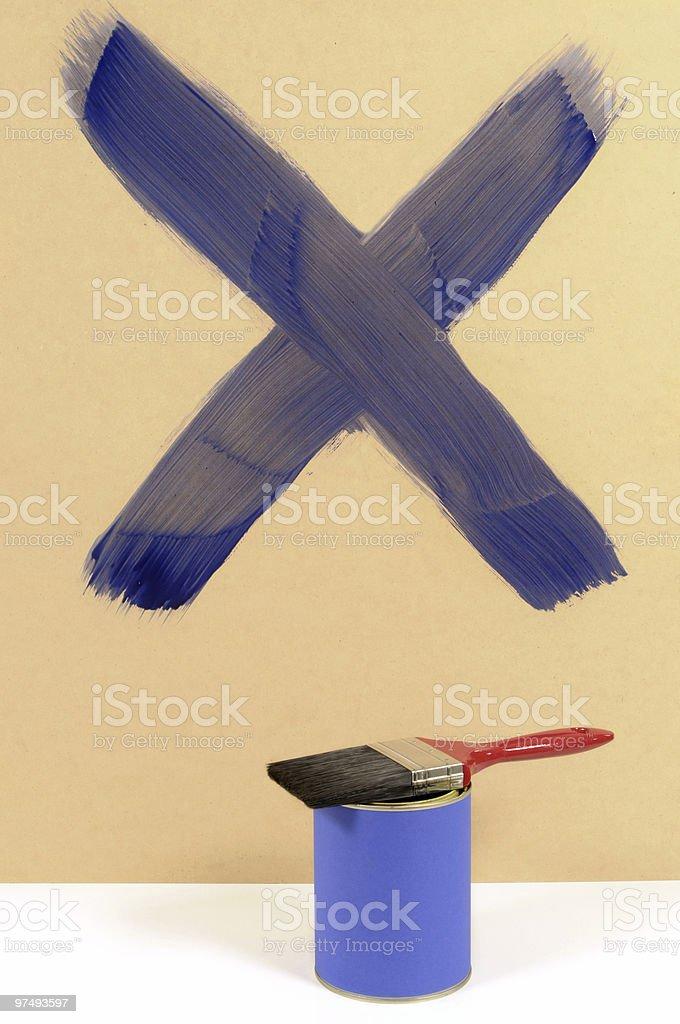 Blue cross royalty-free stock photo