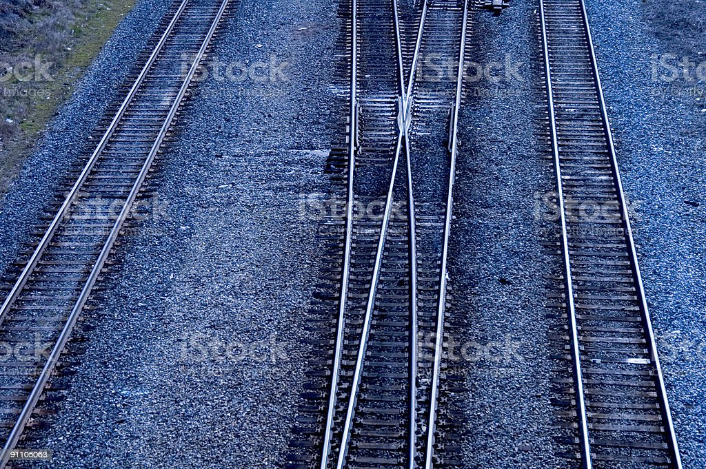 Blue Crossing royalty-free stock photo