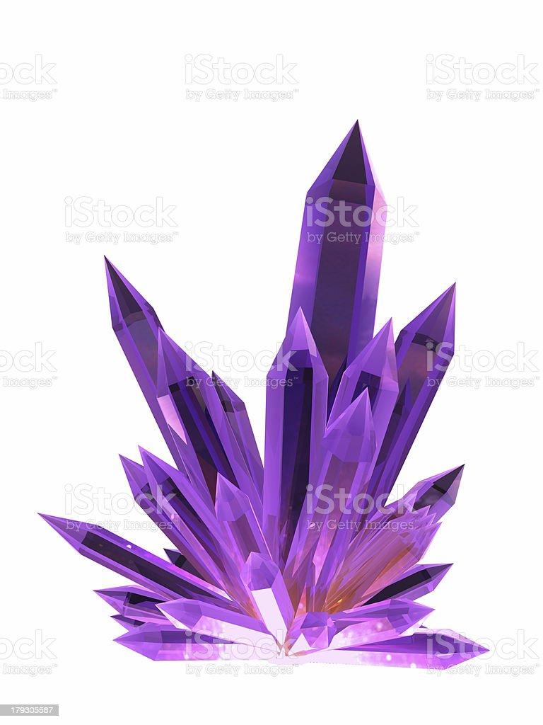 Blue crystal. royalty-free stock photo