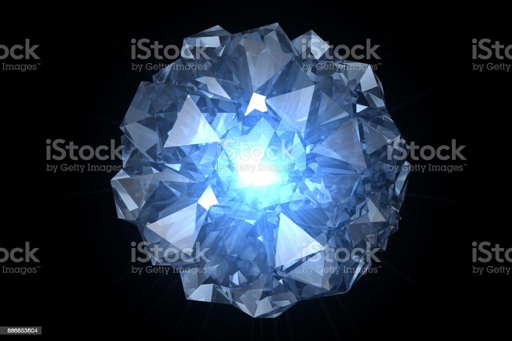 Blue Crystal stock photo