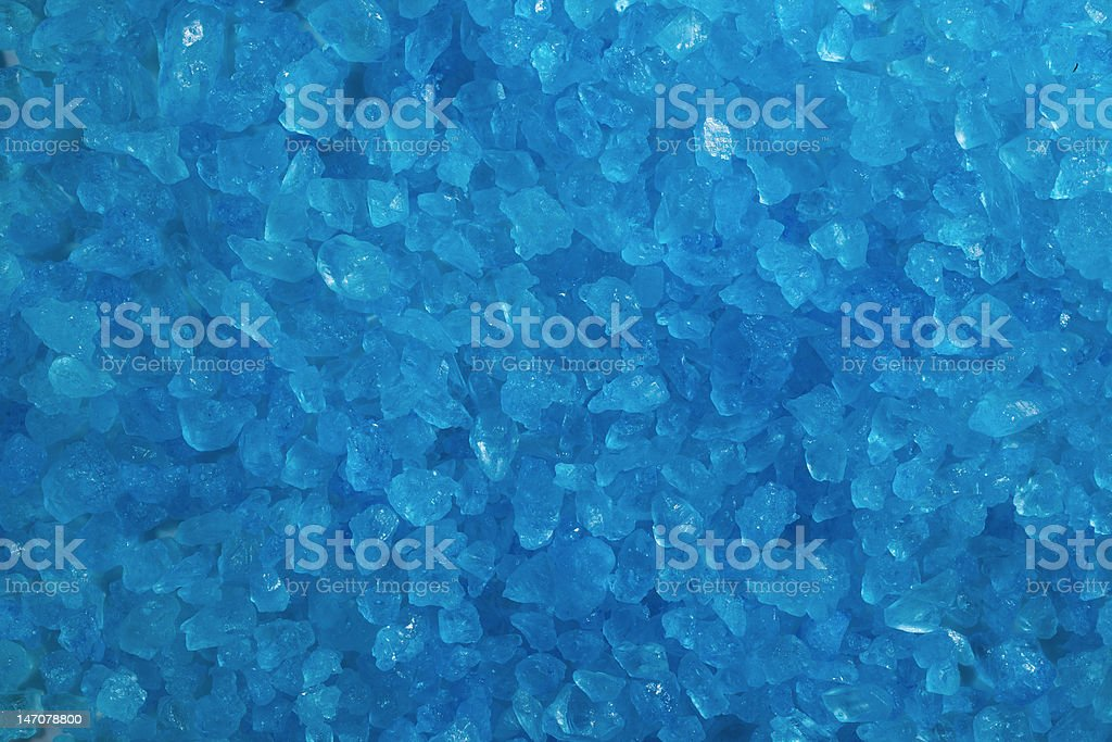 Blue Crystal Rock Background stock photo