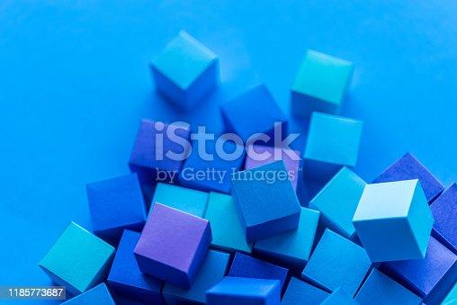 871774704istockphoto Blue cubes 1185773687