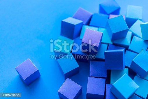 871774704istockphoto Blue cubes 1185773722