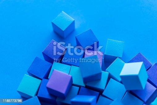 871774704istockphoto Blue cubes 1185773786