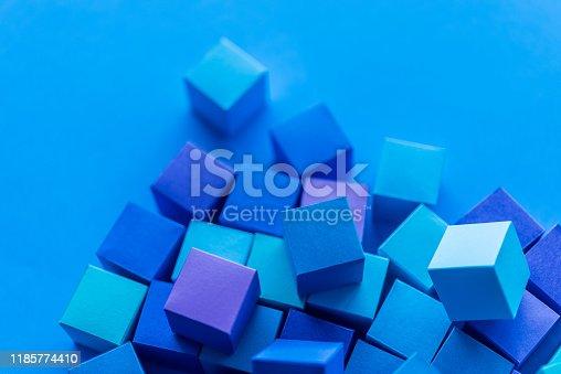 871774704istockphoto Blue cubes 1185774410