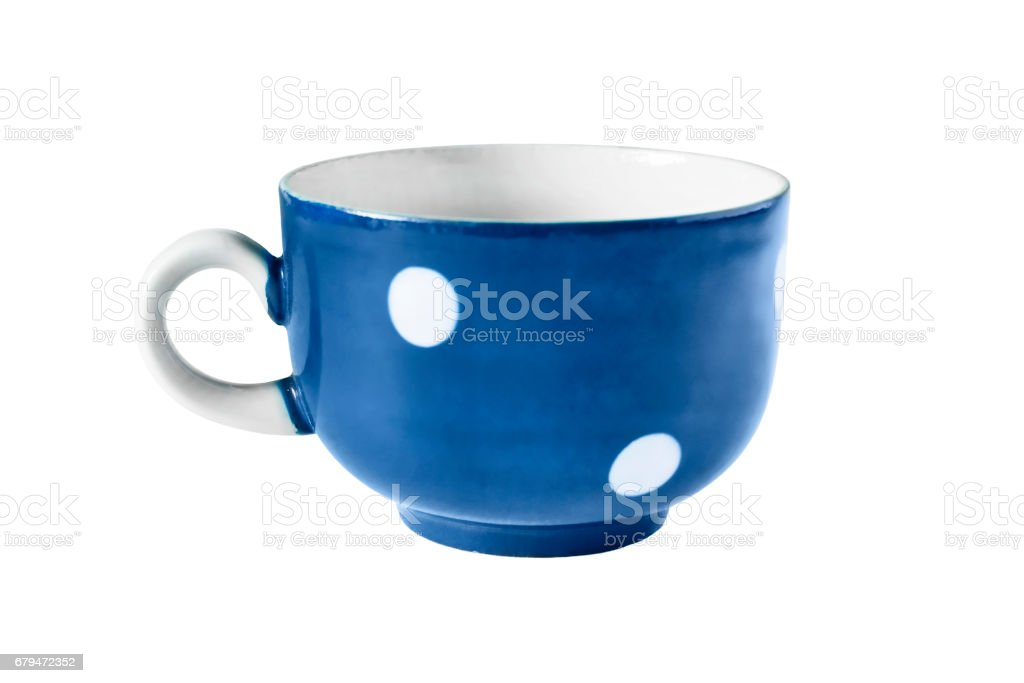 Blue cup isolated 免版稅 stock photo