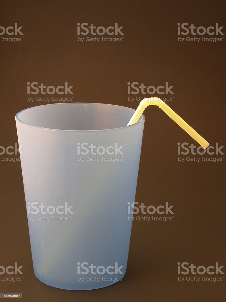 blue cup on black stock photo